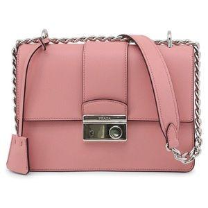 Prada petalo Saffiano leather crossbody bag